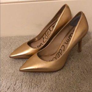Sam Edelman Heels in Rose Gold Leather